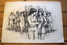 Tusche-Zeichnung von Wolfgang Franke, ohne Titel, unsigniert, ca. 1975