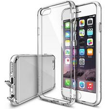 Soft Back TPU Clear Case Skin Cover with Anti-dust Pluggy for Apple iPhone 6s