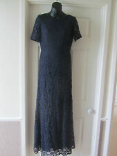 BNWT SOLD OUT @ ASOS NAVY LACE MAXI BACKLESS DRESS SIZE 10 RRP 75.00