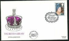 1980-Queen MOTHER'S 80th BIRTHDAY FDC-British Library Londra WC PMK