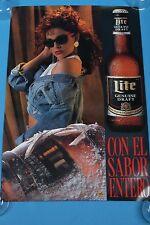 """Miller Lite Genuine Draft beer poster Con El Sabor Entero 20""""x30"""""""