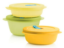 TUPPERWARE SET Mikrowellengeschirr Micro Crystal Wave 800ml 600ml 400ml