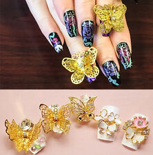 1pc 3D Butterfly Sticker Tips Manicure DIY Rhinestones Nail Art Decoration