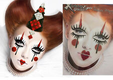Easy Sad Jester Clown Mime Sticker Eye Makeup Glitter Gems Face Mask Costume Set