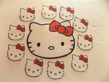 1 Large + 12 small Precut Edible Hello Kitty birthday cake/cupcake toppers
