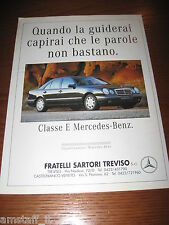 *AH36=MERCEDES-BENZ CLASSE E=PUBBLICITA'=ADVERTISING=WERBUNG=COUPURE=