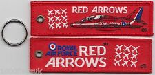 RAF Royal Air Force Red Arrows OFFICIAL Embroidered Key Ring / Pull Cord