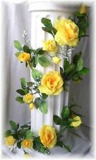YELLOW Open Rose Garland Wedding Arch Gazebo Silk Flowers Artificial Roses Vines