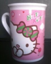 2011   HELLO KITTY Coffee Cup Mug  PINK & WHITE   10 Fluid Ounces Sanrio Co. Ltd