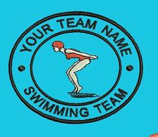 Embroidered Patch Personalised Swimming Synchronised Diving Club Team Badge