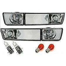 PAIR OF CRYSTAL CLEAR INDICATORS & FOG LIGHTS FOR VW GOLF MK 3 III NICE GIFT