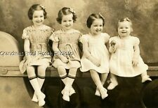 DARLING LITTLE GIRLS HAIR BOWS TIWNS ? ANTIQUE PHTOO MATTED FOLDER TWO RIVERS WI