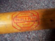 vintage Official softball wood bat Made in USA highest trade triple play mark 34