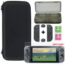 5Pcs For Nintendo Switch Case Bag+Game Card Box+Screen Film +Silicone Cap/Cover