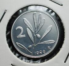 1999  Repubblica Italiana 2 lire FONDO SPECCHIO  da divisionale