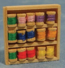 Box Of Cottons, Dolls House Miniatures, 1.12 Scale Sewing Accessory