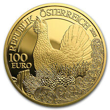 2015 Austria Gold €100 The Capercaillie Proof - SKU #94617