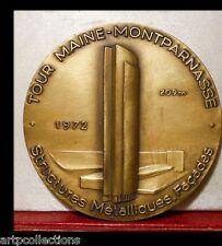 1972 MÉDAILLE bronze TOUR PARIS MONTPARNASSE CFEM CONSTRUCTIONS