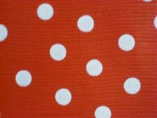 RED + WHITE POLKA DOTS MINNIE MOUSE OILCLOTH VINYL SEWING CRAFT DECOR FABRIC BTY