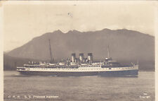 Postcard CPR SS Princess Kathleen Cruise Ship Canadian Pacific 1927 b/w photo