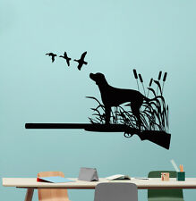 Hunting Dog Wall Decal Hunt Hunter Gun Duck Vinyl Sticker Art Decor Mural 212xxx
