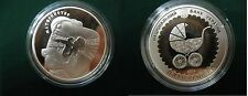 2013 Ukraine 5 UAH PROOF 1/2 OZ Silver Mother/Child/Carriage-box