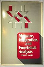 Measure, Integration, and Functional Analysis, Ash, 1972, Academic Press