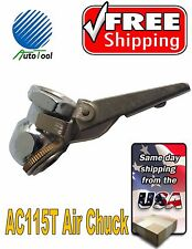 Brass Tire Air Chuck Inflator with Lever Valve Lock Female 1/4 Inch NPT