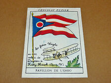 CHROMO #124 PAVILLON OHIO USA CHOCOLAT PUPIER AMERIQUE NORD 1952