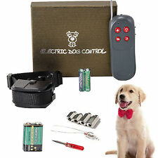 4 In 1 Remote Small/Mediu Dog Training Shock Vibrate Collar Trainer Safe For Pet