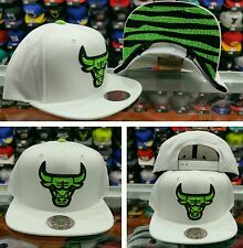 Mitchell and Ness NBA Chicago Bulls Snapback  White  green