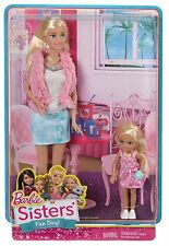 BARBIE SISTERS FUN DAY BARBIE & CHELSEA 2-DOLL SET *NEW*
