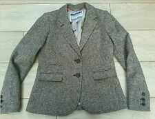 JOULES DUNMERE Don Tweed jacket 12. JOULES BROWN PINK BLAZER TWEED WOOL VGC