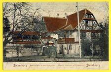 cpa Postkarte STRASSBURG STRASBOURG Bauernhaus Maison Rustique à l'Orangerie