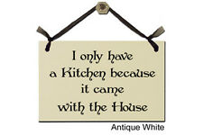 Wall Decor Gift Plaque, I only have a kitchen because it came with the house