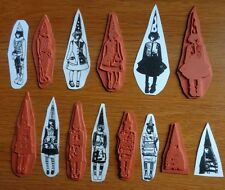 NEW! LOT 7 Teesha Moore LIL' ZETTI GIRLS W THE POINTY HATS Unmount Rubber Stamps
