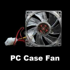 4 Pin 12V 80mm Blue Quiet Desktop Computer PC Case Fan Cooling 4 LEDs New
