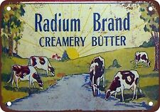 "1933 Radium Brand Butter 10"" x 7"" Reproduction Metal Sign"