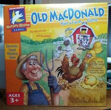 2002 Old MacDonald Had a Farm Electronic Sound Matching Game NEW NIB Sealed IN B