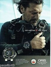 PUBLICITE ADVERTISING 106  2014  Oris  montre Aquis Depth Gauge