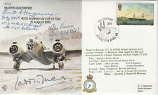 B35c 40th Anniv VJ – Day Signed Wg.Cdr.Laddie Lucas WW11 ace & A Vracia, E Harg