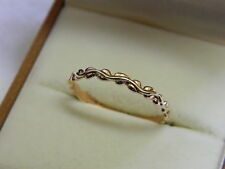 Clogau 9ct Welsh Gold Tree of Life Affinity Stacking Ring size P