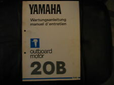 Workshop Manual Yamaha Outboard Engine 20 B