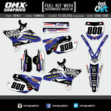 Yamaha YZ 125 250  stickers decals graphics kit 2002 - 2015 UFO RESTYLED Viper