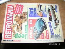 ** Retromania n°59 Dossier JEEP Lancia Beta HPE  Ford Vedette MG B