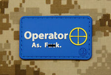 3D PVC Operator As F**k Sniper OAF Nation MARSOC Raiders Morale Patch
