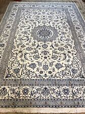 Part Silk Persian Naien Rug Size:362x254 Cm Handmade Carpet