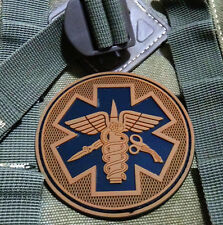 EMS MEDIC CROSS STAR EMT TACTICAL ARMY MORALE AIRSOFT 3D PVC RUBBER PATCH