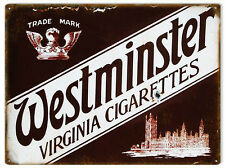 Westminster Virginia Cigarettes Advertisement Sign