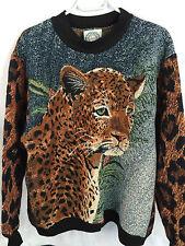 Sugar Street Weavers one size leopard animal print tapestry sweater sweatshirt